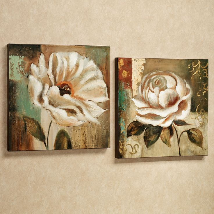 Canvas Wall Decor Sets : Garden delicacies floral canvas wall art set gardens