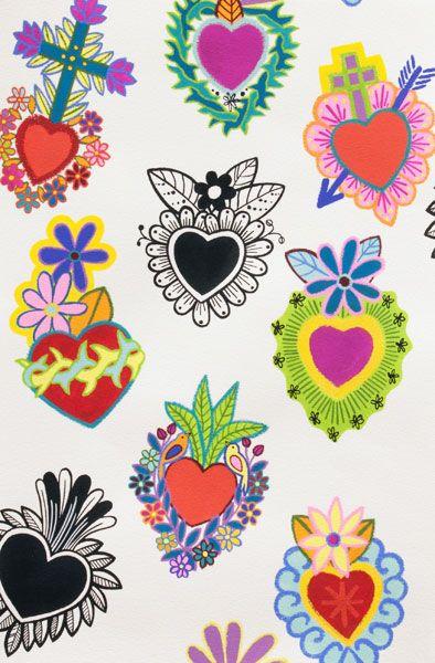 Corazones #diseñodetelas #fabricsdesign