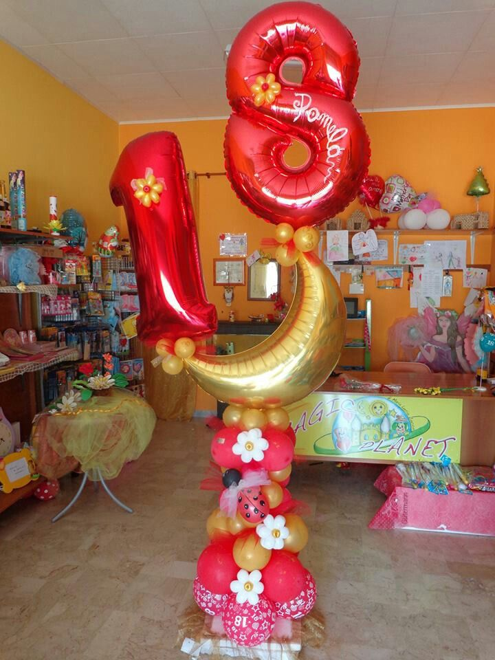 17 best images about globos fiestas infantiles on for 18th birthday decoration ideas