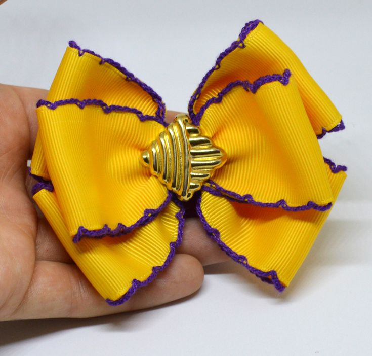 A personal favorite from my Etsy shop https://www.etsy.com/listing/579505461/large-hair-bow-thick-hair-tie-think-hair