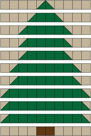 My Christmas Tree rag quilt pattern is an easy quilting project that's suitable for quilters of all skill levels. A soft and cuddly rag quilt project.: Assemble the Christmas Tree Rag Quilt