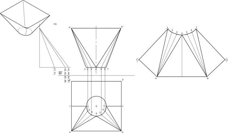 Traçage en chaudronnerie et tuyauterie/Raccordement de deux sections — Wikilivres