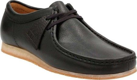 Men's Clarks Wallabee Step Moc Toe Shoe - Black Leather with FREE Shipping & Exchanges. For laidback styling and comfort, look no further than the Clarks Wallabee Step Moc Toe Shoe. Fixed