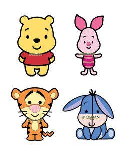 Personnages bébé Winnie the pooh diy mobile