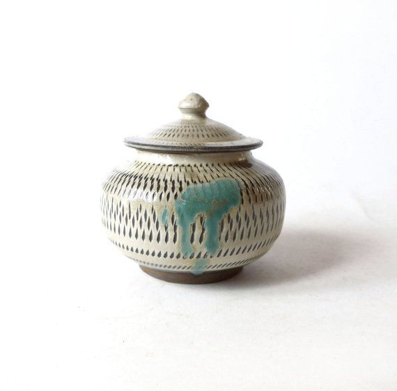 VINTAGE Koishiwara  Pottery Beige  Grey and Brown