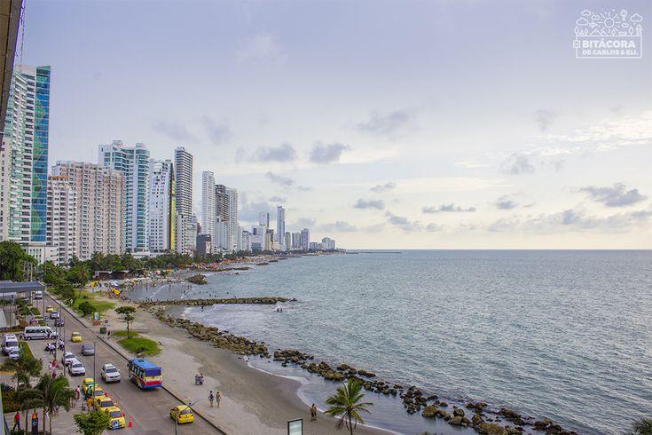 ☀ Así son las playas de Bocagrande en Cartagena. No serán las más bonitas del mundo, pero sí son de las más entretenidas
