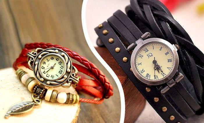 Dámské kožené hodinky | Sleva hodinek