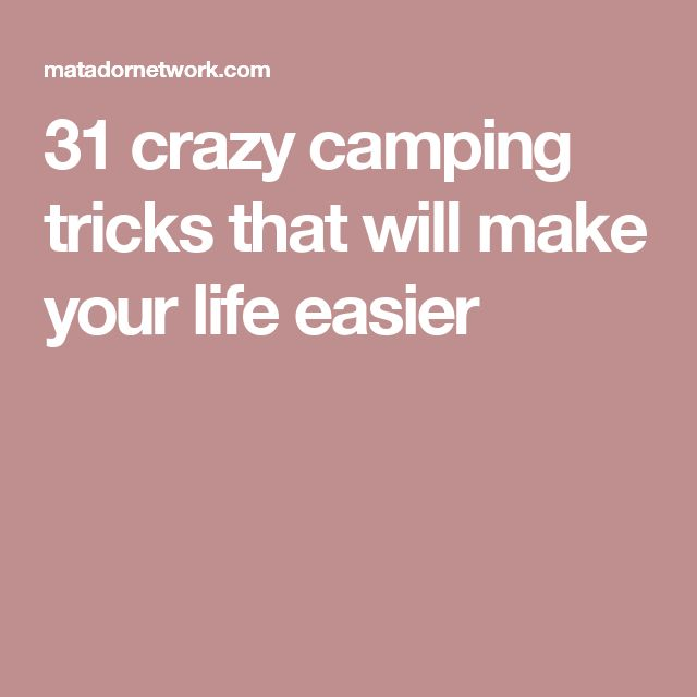 25+ Beautiful Camping Tricks Ideas On Pinterest