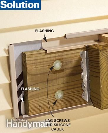 Proper deck flashing and 4 other common house code violations.