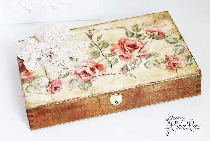 caixa de jóias caixa de decoupage decoupage caixa original por ByRoxanaRusu
