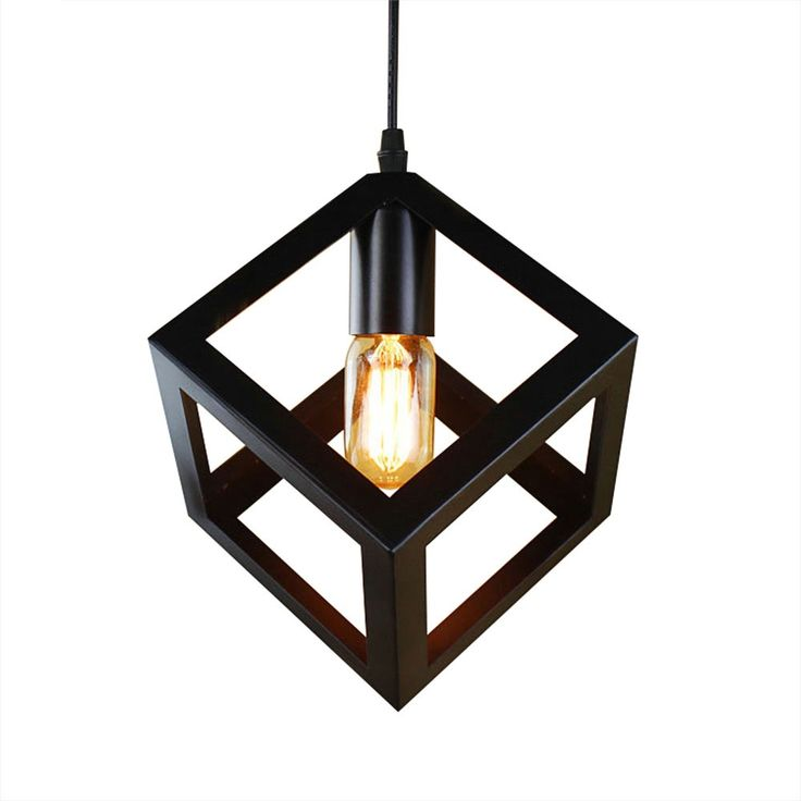 Pendant Lamp American Village Square Creative Living Room Light Loft Of The Quartet Iron Lighting