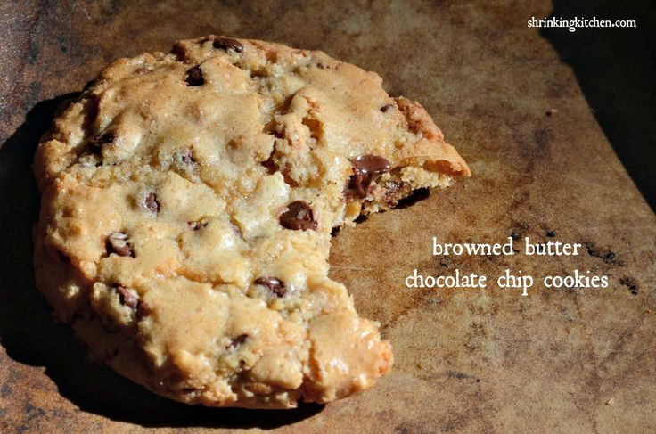 Skinny chocolate chip cookie recipe - Shrinking Kitchen