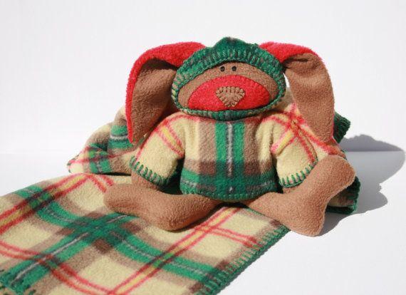 McPlaid Bunny Blankie Saskatchewan Tartan by TwistedKnickersInc, $59.00
