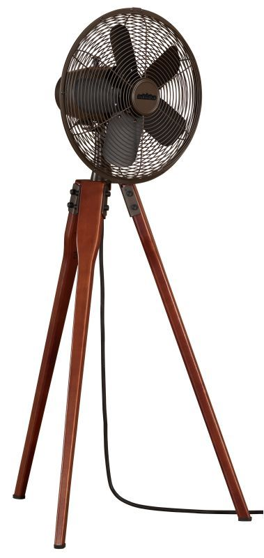 "Fanimation Arden 44"" Tall 5 Blade Oscillating Floor Standing Fan Oil Rubbed Bronze Fans Portable Fans Portable Fans"