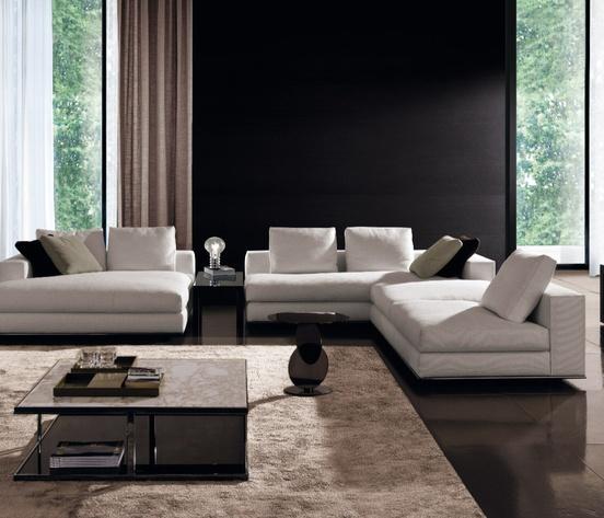 Hamilton sofa and daybed by italian brand minotti for Rooms interior design hamilton