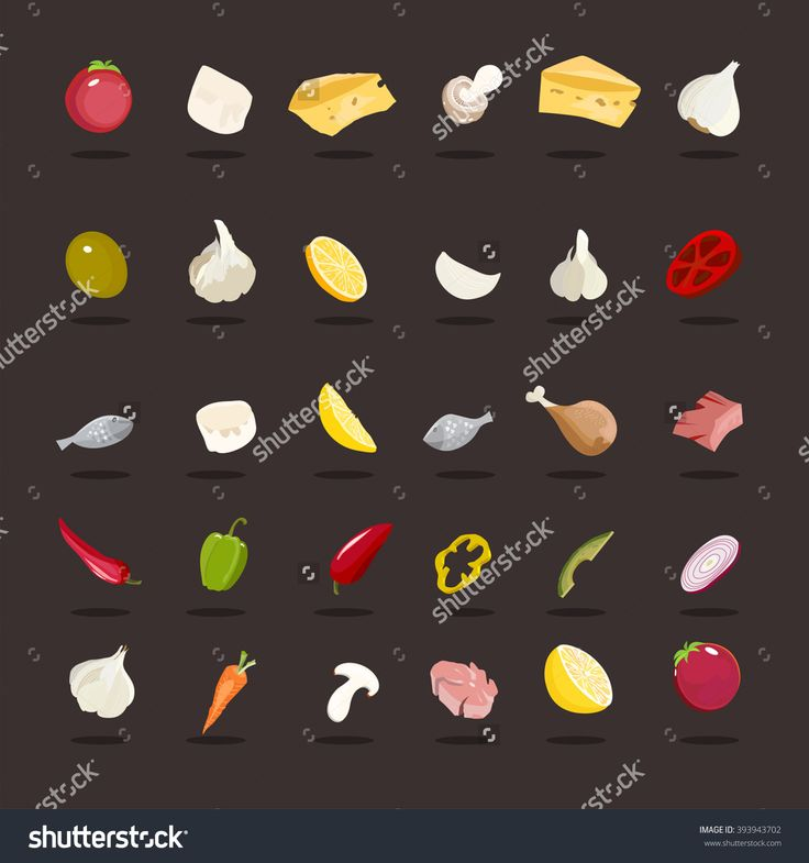 Food pattern. Meat, garlic, tomato, cheese, avocado, meat, mushroom, chicken, fish, carrots, peppers, onion, and lemon. icon food http://www.shutterstock.com/pic-393943702/stock-vector-food-pattern-meat-garlic-tomato-cheese-avocado-meat-mushroom-chicken-fish-carrots.html?src=pp-same_artist-394147534-1&ws=1