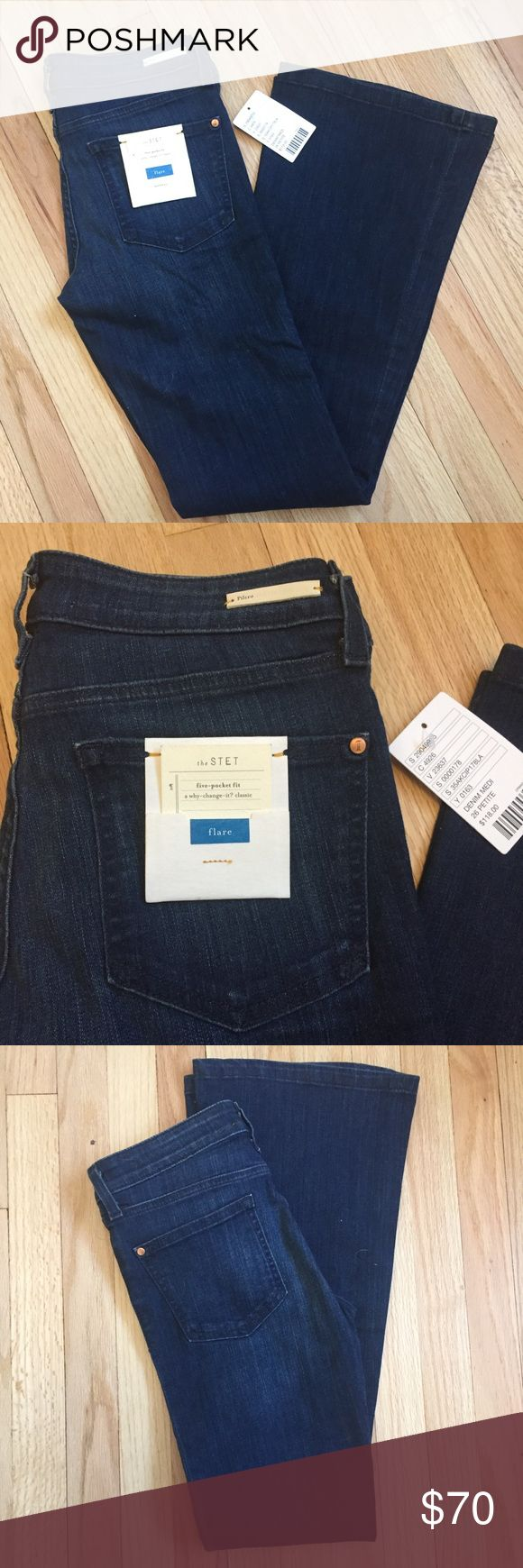 "Anthropologie • Pilcro Stet Petite Flare Jeans Anthropologie • Pilcro Stet Petite Flare Jeans  Pilcro and the Letterpress. Medium wash, flare, petite sizing, 5 pocket, zip front closure, mid rise.   NWT. no flaws to note.  Waist: 28"" Rise: 6.5"" Inseam: 31"" Length: 37.5"" Anthropologie Jeans Flare & Wide Leg"