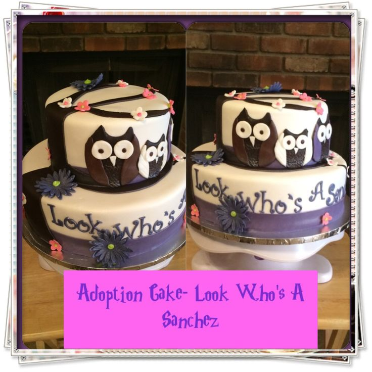 Adoption Cake! To celebrate a loving family that became official #owls #adoption