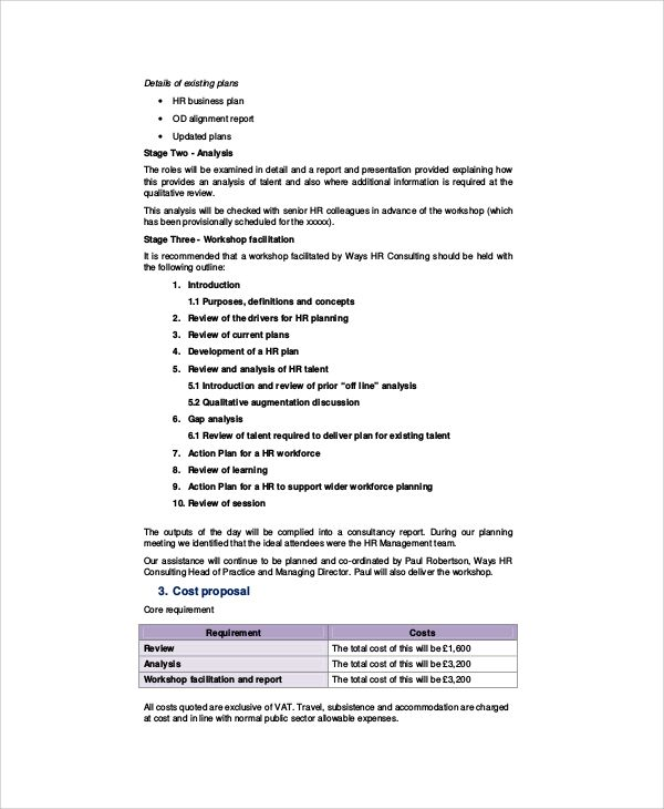 Consulting Proposal Template Business Plan Template Proposal