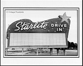 Vintage Starlite Drive In Theater print from a 1949 negative - South El Monte California hot rod history