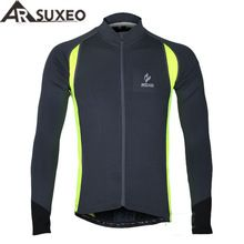 US $17.26 2017 ARSUXEO sports running cycling bike bicycle fitness compression jerseys shirts Long Sleeves MTB Mountain Bike Jersey 60026. Aliexpress product
