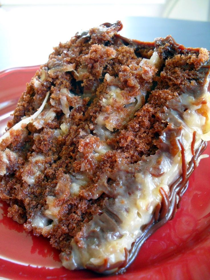 Best Ever German Chocolate Cake - Rich, moist chocolate cake with smooth and creamy caramel like pecan and coconut frosting.