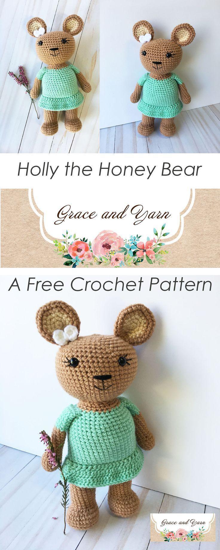Holly the Honey Bear- A Free Crochet Pattern   Macik   Pinterest ...