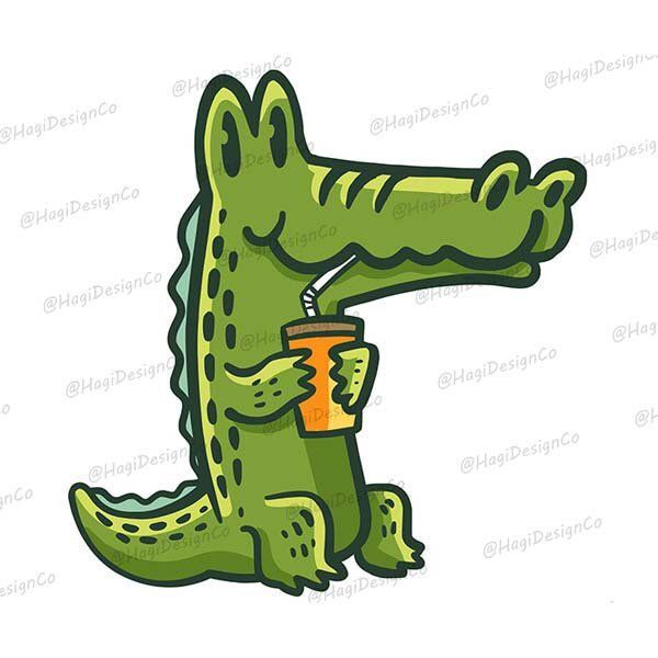 Alligator Crocodile Clipart Png Files Digital Prints Instant Download Graphics Cartoon Animal Illustrations Reptile Characters Clip Art In 2021 Zoo Animal Art Animal Illustration Animal Clipart