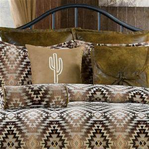 Victor Mill Mesa Brown Southwestern Bedding Comforter or Duvet Set