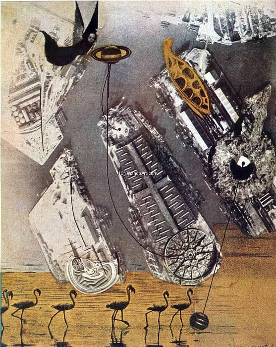 'Kormorane', collage von Max Ernst (1891-1976, Germany)