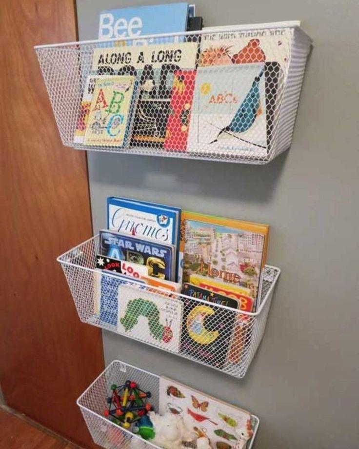 9 DIY pour fabriquer une bibliothèque pour enfant   Rangement livre, Idee rangement et Chambre ...