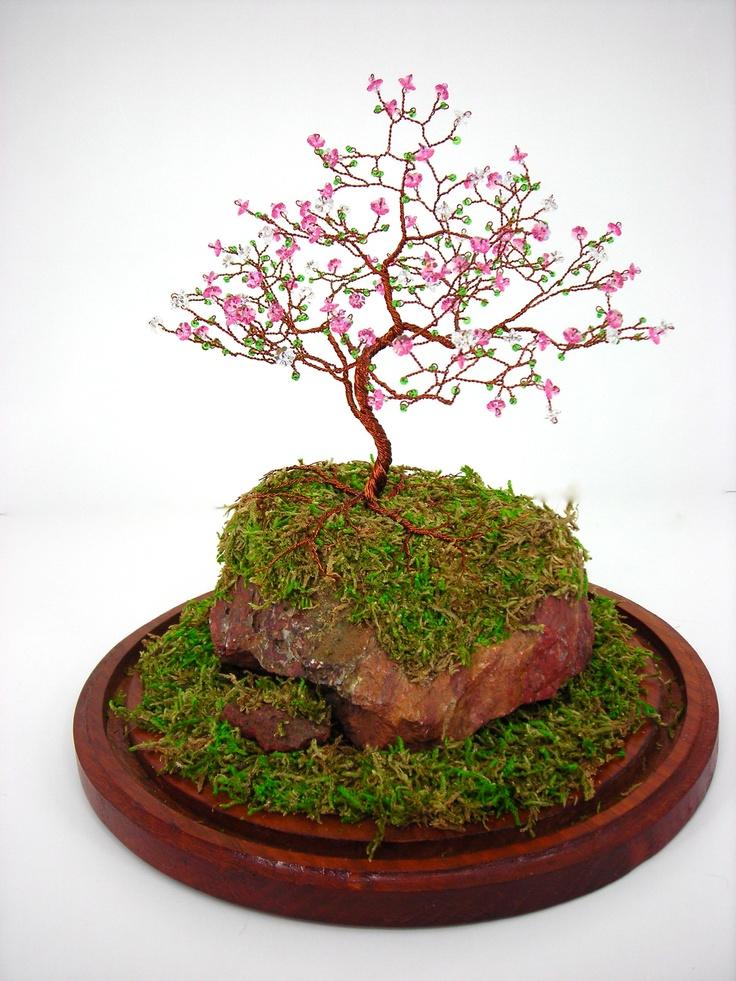 Mini Fairy Garden Cherry Blossom Tree With Beads