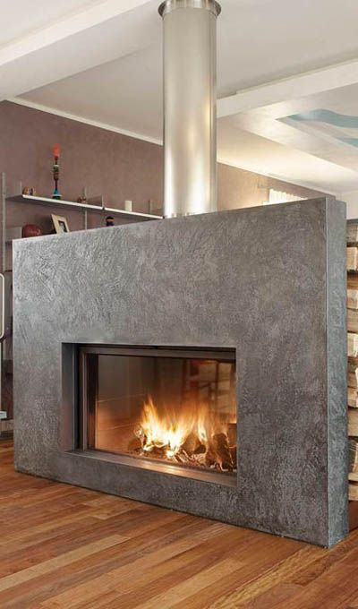 Heat your home this winter with a ME 90/44 B - DOUBLE SIDED fireplace | Calore | Italcotto #fireplace #heating