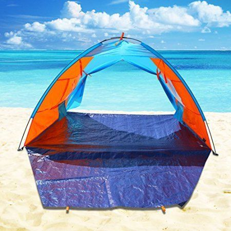 Strong Camel POP UP Potable Beach Shelter Tent Camping SUN Shade Outdoor Canopy Orange