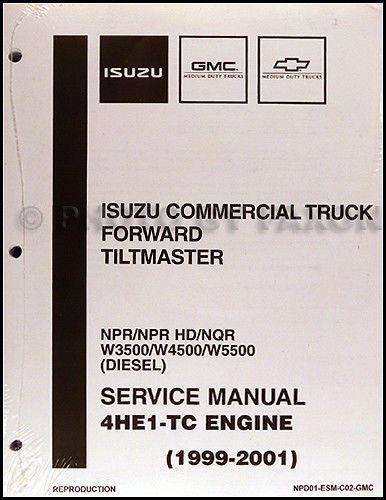 Fabulous Diesel Engine 4He1 Tc Shop Manual Isuzu Npr Nqr W3500 W5500 1999 Wiring Digital Resources Otenewoestevosnl