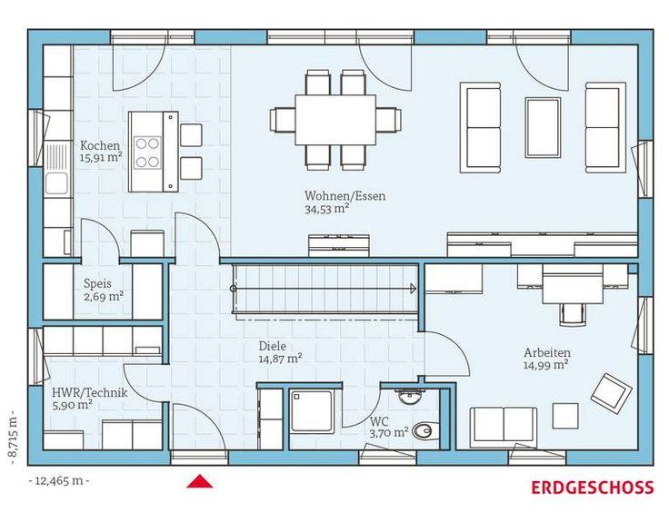 Fertighaus und Energiesparhaus - Variant 25-183 EG Mehr
