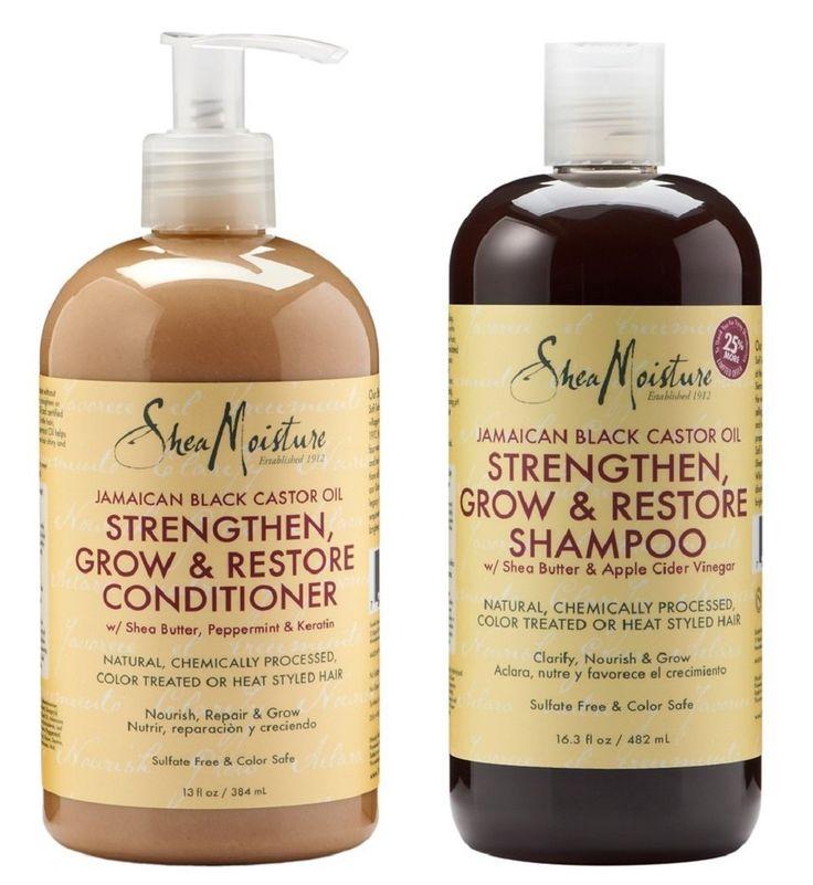 Shea Moisture Shampoo and Conditioner Set _ Jamaican Black Castor Oil Combination Pack _ Strengthen, Grow & Restore System _ 16.3 oz Shampoo & 13 oz. Conditioner