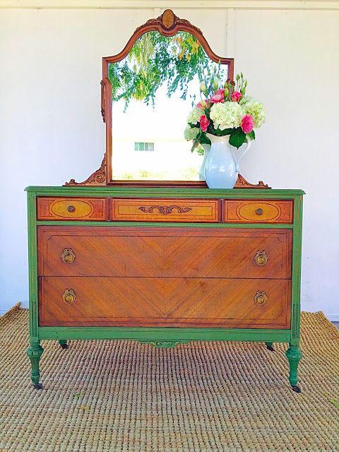 Fab Furniture Flippin' Contest July Winner - Dandelion Patina