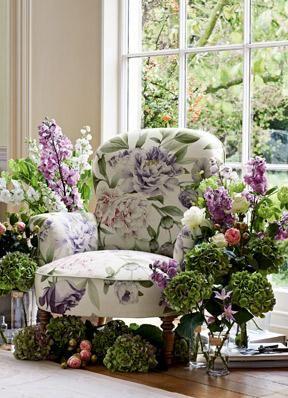 Zoffany Fabric Phoebe in Rose Lilac 321438, www.eadeswallpaper.com  #designerwallpaper  #wallpapersale  #DIY