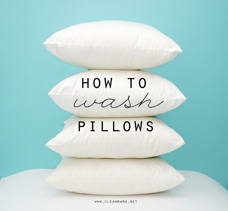 how to clean pillows in washer
