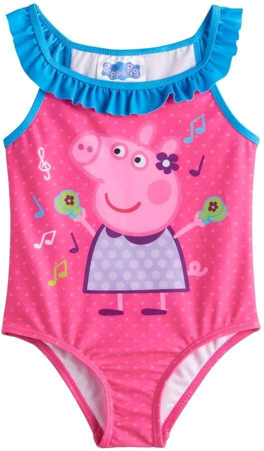 39aa3a4023a3d Toddler Girl Peppa Pig 1-Piece Swimsuit Toddler Boy Fashion, Toddler Boys,  Kids