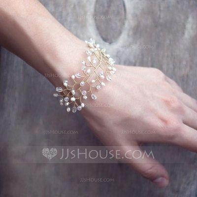 [€ 10.74] Romántico Aleación/La perla de faux con La perla de faux Señoras' Pulseras (011110831)