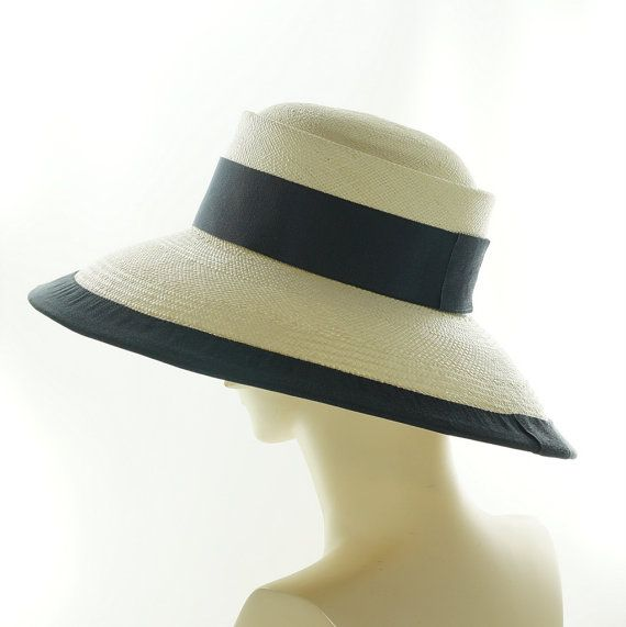 BUGATTI Wide Brim Hat for Women Panama Straw by TheMillineryShop, $275.00 | A ork of art... Look close, exquisite.
