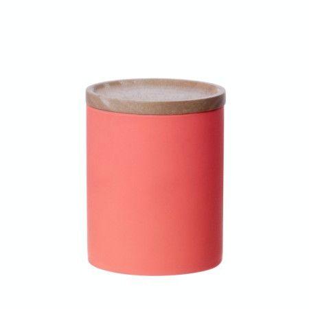 LET LIV - Medium Kitchen Canister in Neon Orange