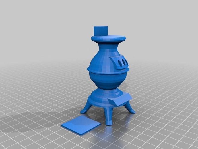 Woodstove1 for Dollhouse by cerberus333 - Thingiverse