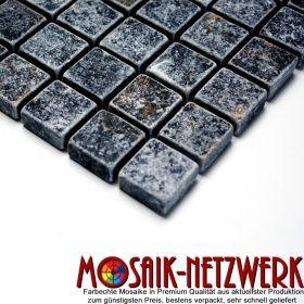 Mosaik-Netzwerk Marmor Verblender Natursteinmosaik Quadrat Nero Antique Marble - Art: 36-0306-A_b   Bogen   kaufen bei www.Mosaik-Netzwerk.de