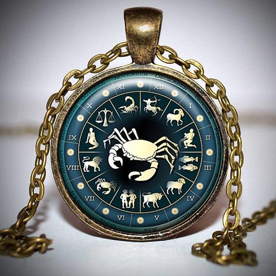 Zodiac Cancer Pendant  Zodiac Cancer Jewelry  Zodiac by Jaylos, $8.00
