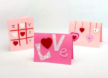 Valentine's day cards: Handmade with love: tic tac toe