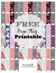 Erin Condren, Plum Paper Planner, FiloFax FREE Printable Page Flags Via AndreaNicoleBlogs #Planner #freeprintable #planner