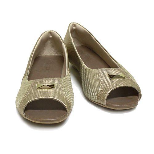 Usaflex Peep Toe Dourado V1809/04    Visite nossa loja virtual e saiba mais.